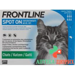 Frontline Spot On Katze Liste D 3x 0.5мл