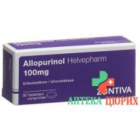 Аллопуринол Хелвефарм 100 мг 50 таблеток