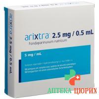 Арикстра раствор для инъекций 2,5 мг / 0,5 мл 10 предварительно заполненных шприцев по 0,5 мл