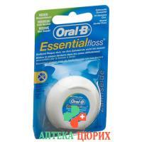 Oral B Essentialfloss 50m mint gewachst