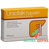 Урсофальк 250 мг 100 капсул
