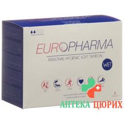 Europharma Hygienic Tampons 6 штук