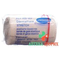 Dermaplast Stretch марлевый бинт телесный цвет 6смx4м