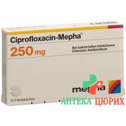 Ципрофлоксацин Мефа 250 мг 10 таблеток покрытых оболочкой