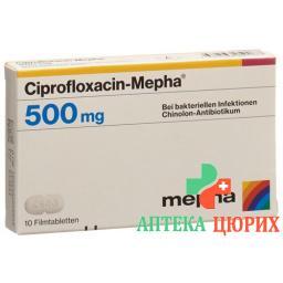 Ципрофлоксацин Мефа 500 мг 10 таблеток покрытых оболочкой