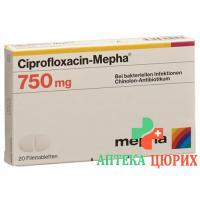 Ципрофлоксацин Мефа 750 мг 20 таблеток покрытых оболочкой