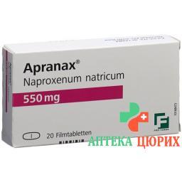 Апранакс 550 мг 20 таблеток покрытых оболочкой