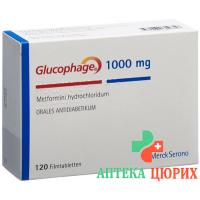 Глюкофаж 1000 мг 120таблеток покрытых оболочкой