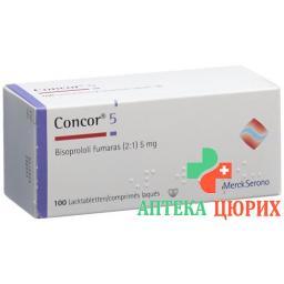 Конкор 5 мг 100 таблеток покрытых оболочкой