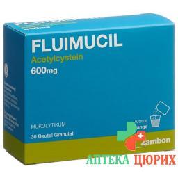 Флуимуцил гранулы 600 мг 30 пакетиков