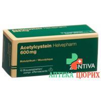 Ацетилцистеин 600 мг 10 растворимых таблеток