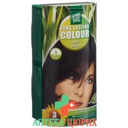 Henna Plus Long Last Colour 3 Dunkelbraun