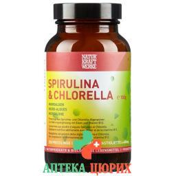Натюркрафтверке Спирулина и Хлорелла 400 мг 250 таблеток