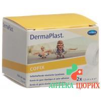 Dermaplast Cofix марлевый бинт 1.5смx4m Weiss 2 штуки