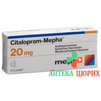 Циталопрам Мефа 20 мг 28 таблеток покрытых оболочкой