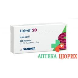 Лизитрил 20 мг 30 таблеток