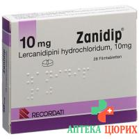 Занидип 10 мг 28 таблеток покрытых оболочкой