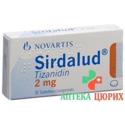 Сирдалуд 2 мг 30 таблеток