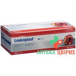 Leukoplast Heftpflaster 9.2мX1.25см телесный цвет 24 штуки