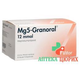 Mагний 5 12 ммоль гранулы оральные 30 пакетиков