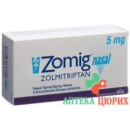 ЗомигНазаль назальный спрей 5 мг 6 монодоз