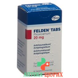 Фельден 20 мг 30 таблеток