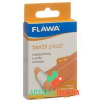 Flawa Textil Plast Schnellverband 6смx10см Hautfarbig 10 штук