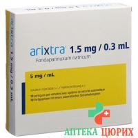 Арикстра раствор для инъекций 1,5 мг / 0,3 мл 10 предварительно заполненных шприцев по 0,3 мл
