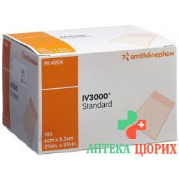 Opsite Iv3000 Kanulenfixation 6x8.5см 100 штук