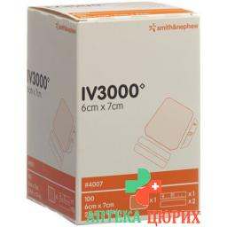 Opsite Iv3000 Kanulenfixation 6x7см 100 штук