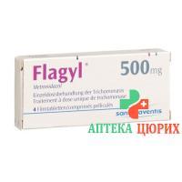 Флагил Трихопак 500 мг 4 таблетки покрытых оболочкой