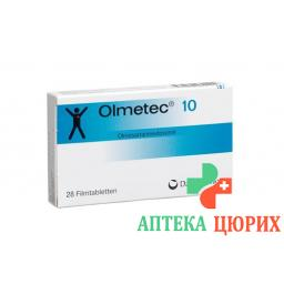 Олметек 10 мг 28 таблеток покрытых оболочкой