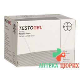 Teстoгель 50 мг / 5 г гель 30 пакетиков по5 г