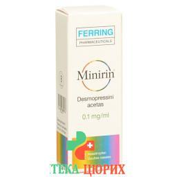 Минирин капли в нос 0,1 мг/мл флакон 2,5 мл