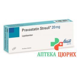 Правастатин Штройли 20 мг 30 таблеток