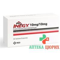 Инеджи 10/10 мг 98 таблеток