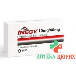Инеджи 10/40 мг 28 таблеток