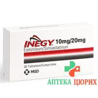 Инеджи 10/20 мг 28 таблеток