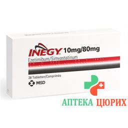 Инеджи 10/80 мг 28 таблеток