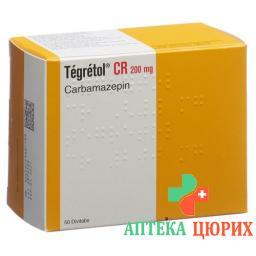 Тегретол CR 200 мг 50 таблеток замедленного высвобождения