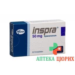 Инспра 50 мг 30 таблеток покрытых оболочкой