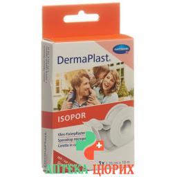 Dermaplast Isopor фиксирующий пластырь 10мX1.25см Vlies Weiss Dispenser