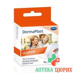 Dermaplast Isopor фиксирующий пластырь 10мX5см Vlies Weiss 6 штук
