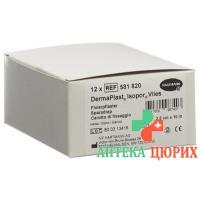 Dermaplast Isopor фиксирующий пластырь 10мX2.5см Vlies Weiss 12 штук