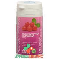 Acerola Vitamin C в таблетках, доза 60 штук