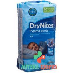 Huggies Drynites Nachtwindeln Boy 4-7jahre 10 штук