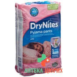 Huggies Drynites Nachtwindeln Girl 4-7 Jahre 10 штук