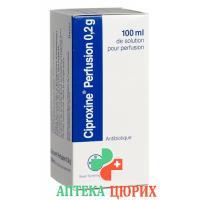 Ципроксин раствор для инфузий 0,2 г 1 флакон 100 мл
