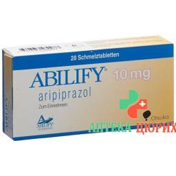 Абилифай 10 мг 28 таблеток диспергируемых в полости рта
