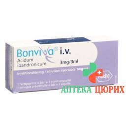 Бонвива раствор для в/в инъекций 3 мг / 3 мл 1 предварительно заполненный шприц 3 мл